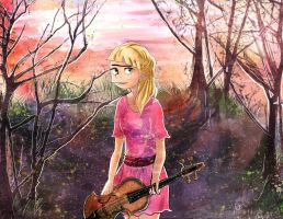 Helga with a violin by alone-werewolf