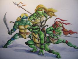 Teenage Mutant Noldor Turtles by Neldor