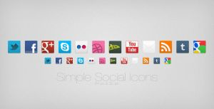 Simple Social Icons by MysteryWeb