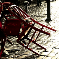 Red Chairs -enhanced- by IoannisCleary