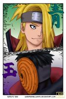 Naruto 356 Tobi and Deidara colored by SandraDibujante