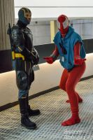 MME 2015 - KickAss and Scarlet Spider by VampireBree