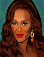 Tyra Banks No Pen And Coloer 4 by daylover1313