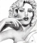 Woman in pencil by Mindsue