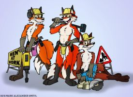 Men At Work by FreyFox