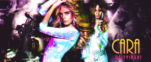 Cara Delevingne fb timeline cover by MyusaTeddy