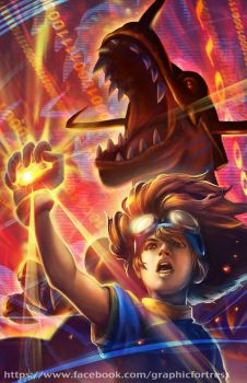 Digimon Speedpainting by GraphicFortress