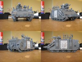 WIP: Chaos Space Marines Iron Warriors Rhino 1 by Hellwolve