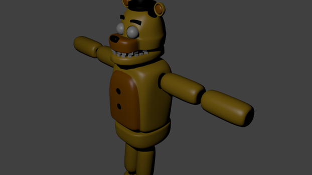 WIP GOLDEN FREDDY by DR-END