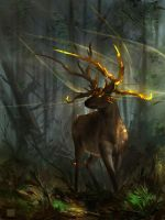 Elara : Deer guardian by Sickbrush