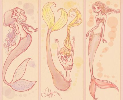 Bubbly mermaids by Vilva