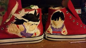 WIP Gohan dragon ball Z canvas trainers by LightningChaser