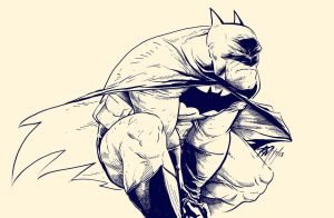 Batman Crouch by renomsad