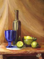 Simple still life. August 2014. Oil on paper. by alartstudio