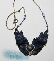 Winged Heart Necklace by CNKCreations