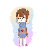 Overtale Frisk by ludmilabb2