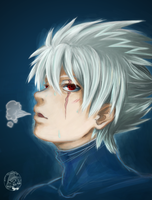 Kakashi Maskless by TaffyDesu