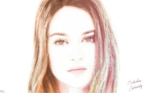 Painting Shailene Woodley by kawl4sure
