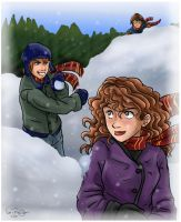 Harry Potter - Snowball Fight by irishgirl982