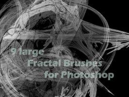 9 large Fractal Brushes by AveEnd