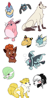 PKMN Doodles by WithoutName