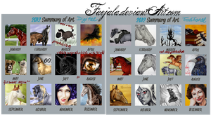 Summary of Art 2012 - Digital and Traditional by Faejala