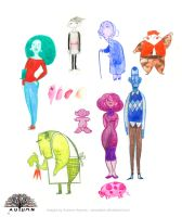 Color Characters by carcadann