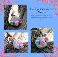 Tie-Dye Crocheted Mouse by Dragonrose36