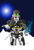 Power Rangers: Tusk snowstorm by BadDogg