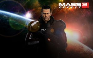 Mass Effect 3 Commander Shepard by LordHayabusa357