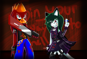CE knives and pens~ by alonegothictomboy