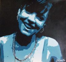 Lily Allen Painting by kaylamckay