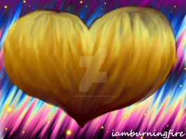 Golden heart by iamburningfire
