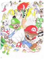 Super Mario Brothers by FancyTonic