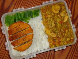 my cooking-curry chicken rice by sinammonite