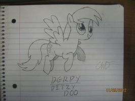 Derpy Hooves Sketch by CrazedWD