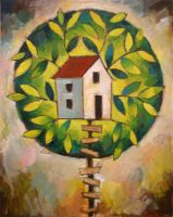 Tree House - Oil by usartdude