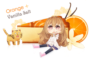 Orange + Vanilla Salt [Speedpaint] by Basdiah