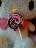 Sweet PixBl Lollipop Necklace by HystericParade