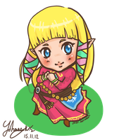 Princess Zelda Skyward Sword chibi by joiski