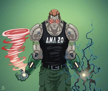 Amazo (Earth-27) commission by phil-cho