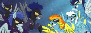 Coffee Mug - Shadowbolts vs. Wonderbolts by sophiecabra