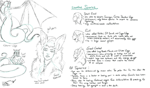 Species Scribbles - Nocturnal Nagas by Blue-Starr