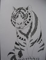 siberian tiger doodle by veranna26