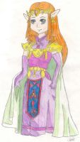 Princess Zelda by ravendarkraven