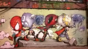 Graffiti Art of the Avengers by Rooney-A