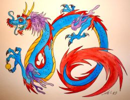 Blue Dragon Theif by Phoenix-Lord