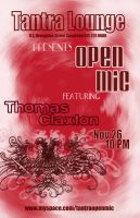 open mic poster by urielstempest
