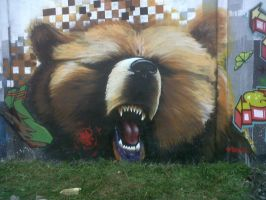 graffiti bear by elbearone