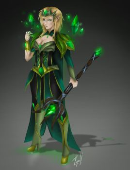 Genderbend Emerald Taric by alittlethanh